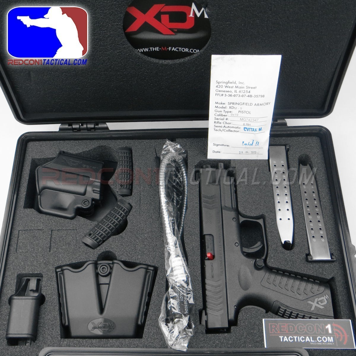 Xdm Tactical 9mm Springfield Xdm 9mm 4.5
