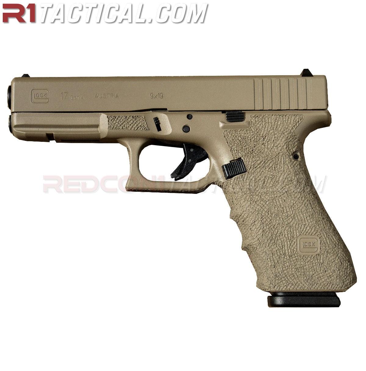 Glock 17 Gen4 W Custom Fde Cerakote Amp Stippling