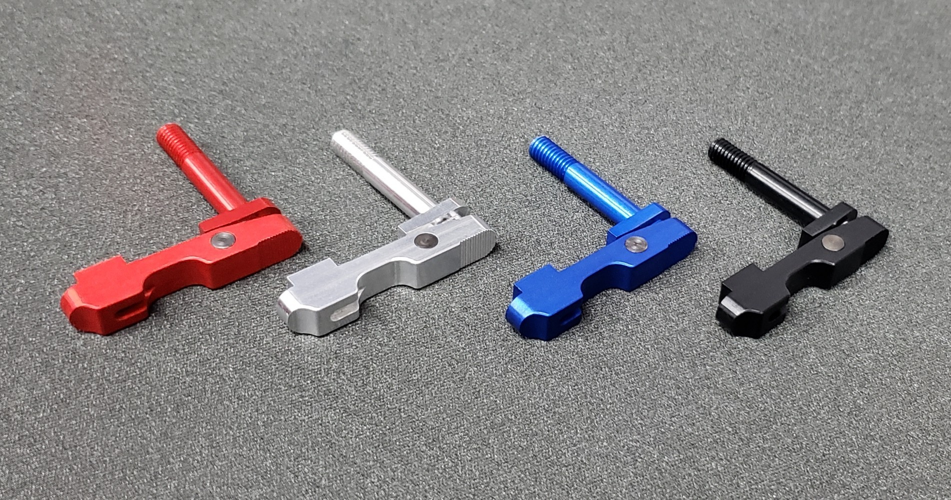 R1 Tactical Aluminum Ambidextrous Magazine Release Anodized Red Silver Blue Black