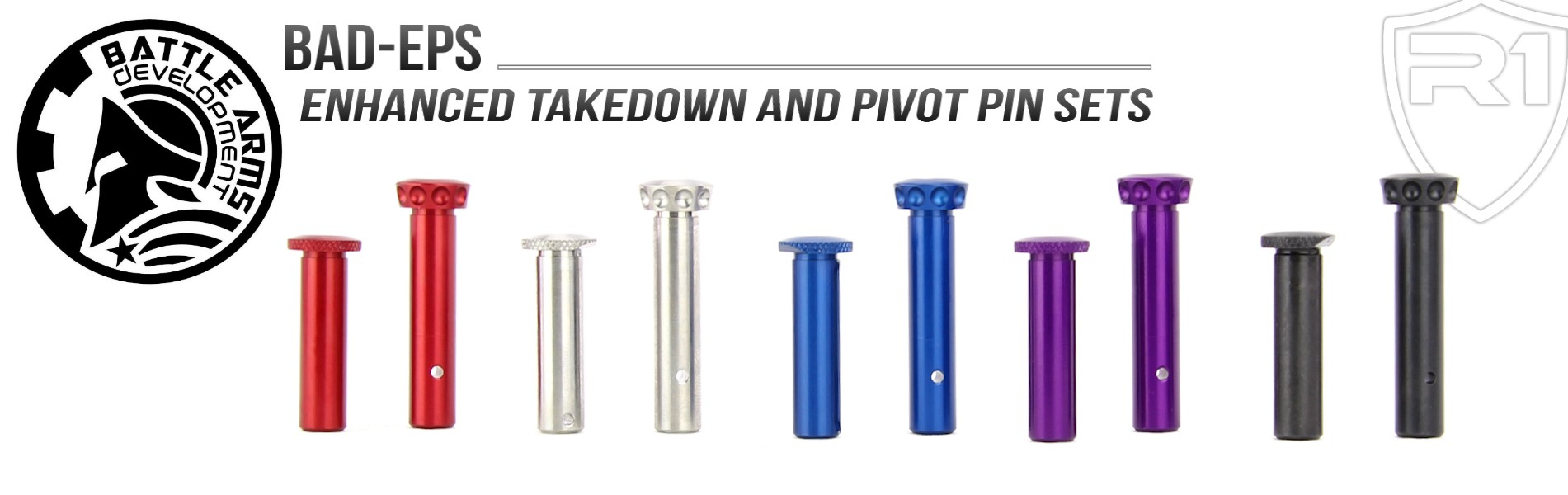 Battle Arms Development AR-15 BAD-EPS Enhanced Takedown and Pivot Pin Set  | Redcon1 Tactical