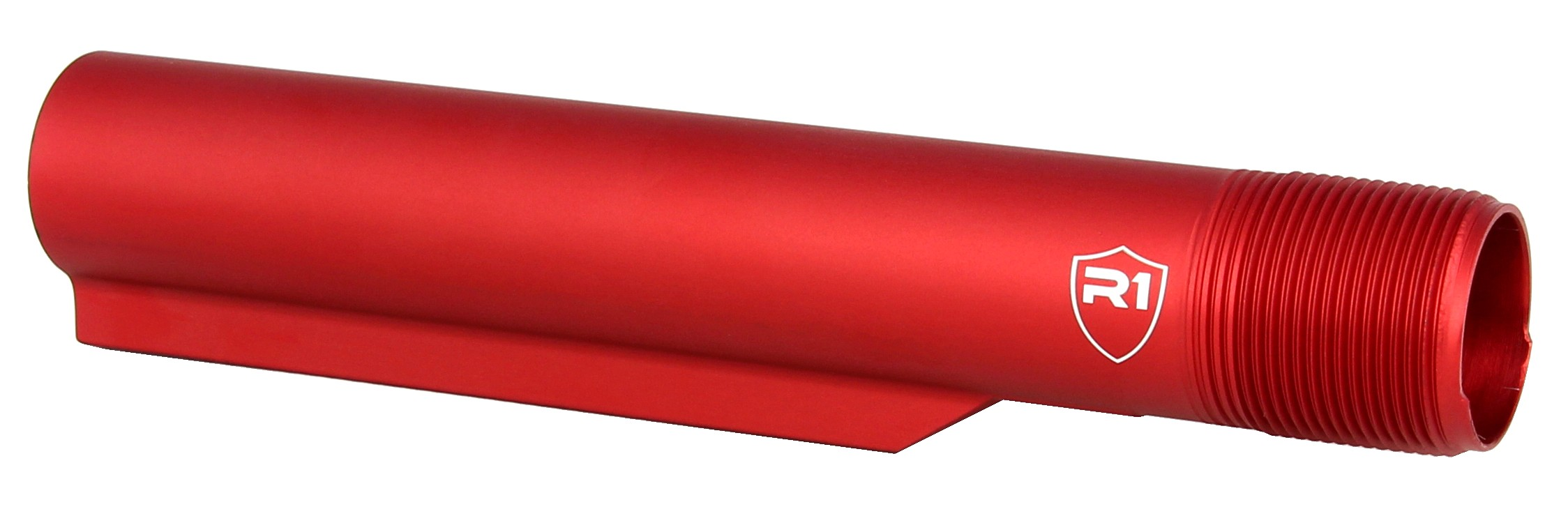 R1 Tactical Red Anodized Mil-Spec Buffer Tube Extension (R1 Shield) - Redcon1 Tactical