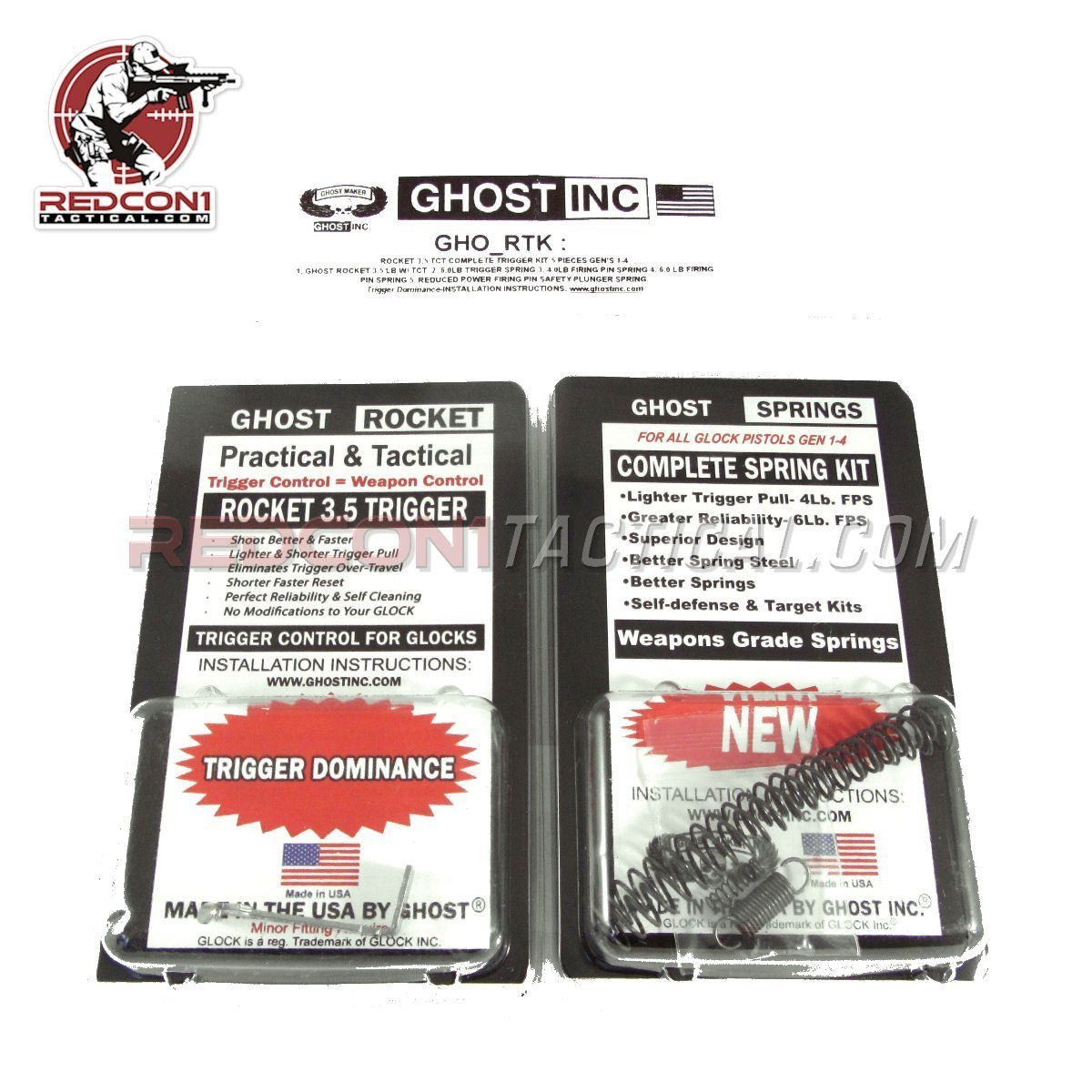 Ghost Rocket 3.5lb Trigger Kit for Glock Gen 1-4