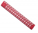 "Strike Industries 13"" AR Mega Fins G2 KeyMod Handguard Red"