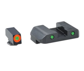 AmeriGlo Spartan Sights for Glock 17/22 Tritium 3-Dot Orange / Green