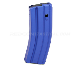 C Products Defense DURAMAG Speed AR-15 .223/5.56/300BLK 30 round Aluminum Magazine Anodized - Blue