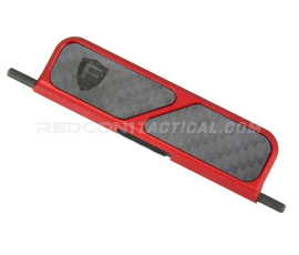 Fortis Billet Dust Cover Carbon Fiber - Red