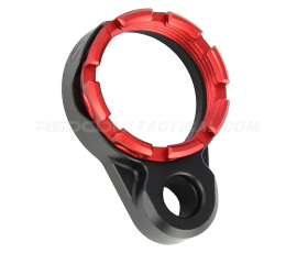 Fortis LE Lightweight Enhanced AR15 End Plate - K1 System (Tapered) Castle Nut - Red