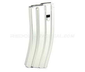 Guntec USA AR 5.56 Aluminum 30-round Magazine with Anti-Tilt Follower - Anodized Clear