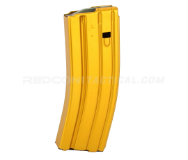 Guntec USA AR 5.56 Aluminum 30-round Magazine with Anti-Tilt Follower - Anodized Gold