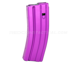 Guntec USA AR 5.56 Aluminum 30-round Magazine with Anti-Tilt Follower - Anodized Purple