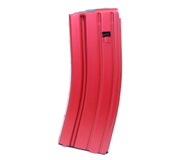 Guntec USA AR 5.56 Aluminum 30-round Magazine with Anti-Tilt Follower - Anodized Red