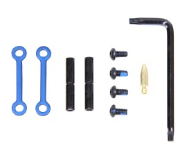 Guntec USA AR-15 Anti-Rotational Trigger/Hammer Pin Set - Anodized Blue