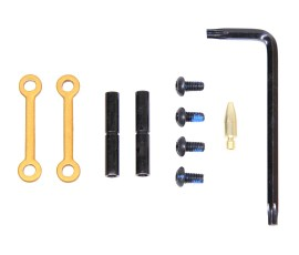 Guntec USA AR-15 Anti-Rotational Trigger/Hammer Pin Set - Anodized Gold