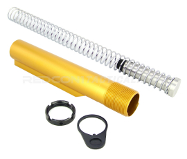 Guntec USA AR-15 Mil-Spec Buffer Tube Kit - Anodized Gold