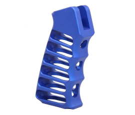 Guntec USA Ultralight Series Skeletonized Aluminum Pistol Grip - Anodized Blue