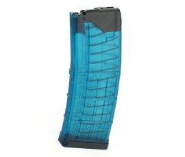 R1 Tactical Modified Lancer L5AWM 30 round 5.56 -  Aqua Blue Translucent