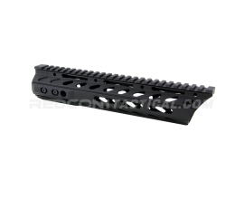 "Phase 5 10.5"" Lo-Pro Slope Nose Free Float Quad Rail M-LOK - Black"