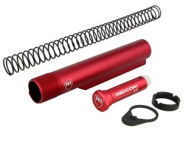 R1 Tactical AR-15 Shield Buffer Tube Kit Mil-Spec - Red