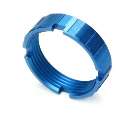 R1 Tactical Lightweight Aluminum Castle Nut - Bright Blue