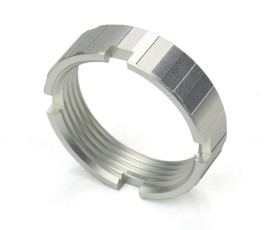 R1 Tactical Lightweight Aluminum Castle Nut - Silver