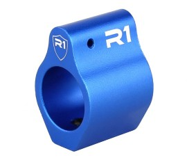 R1 Tactical Aluminum Low Profile Gas Black .750 - Blue