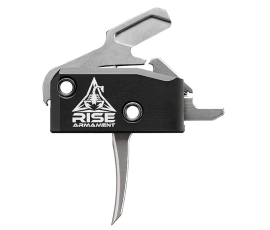Rise Armament RA-434 High Performance Trigger (HPT) w/ Anti-Walk Pins - Straight Silver