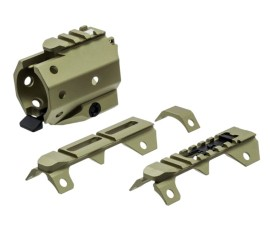 Strike Industries GridLok Sights and Rail Attachment - FDE