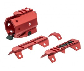 Strike Industries GridLok Sights and Rail Attachment - Red