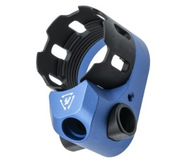 Strike Industries TRIBUS Enhanced Castle Nut & Extended End Plate - Blue