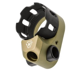 Strike Industries TRIBUS Enhanced Castle Nut & Extended End Plate - FDE