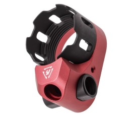 Strike Industries TRIBUS Enhanced Castle Nut & Extended End Plate - Red