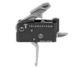 TriggerTech Adaptable AR Primary Trigger 2-Stage Adjustable 2.5 - 5.0 lb - Stainless Flat