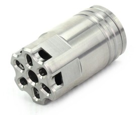 Venom Defense AR-15 Linear Stainless Steel Compensator - As Machined