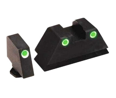 AmeriGlo Suppressor Sights for Glock Tritium 3-DotGreen / Green