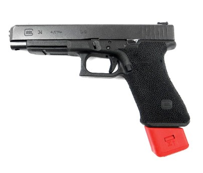 Arredondo Base Pad for Glock 9/40 (type 17) Checkered w/ Spring Red