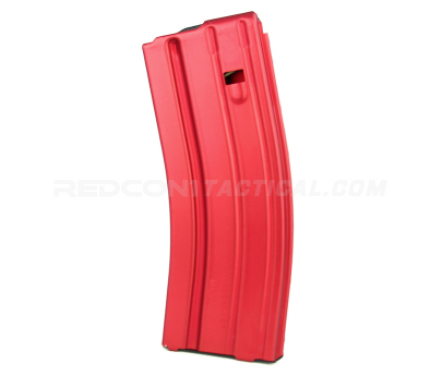 C Products Defense DURAMAG Speed AR-15 .223/5.56/300BLK 30 round Aluminum Magazine Anodized - Red