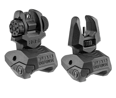 FAB Defense FRBS Polymer Folding Back-Up Sights - Black