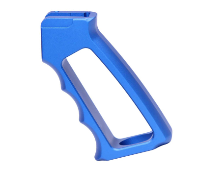 Guntec USA Ultralight Series Skeletonized Aluminum Pistol Grip (Gen 2) - Anodized Blue