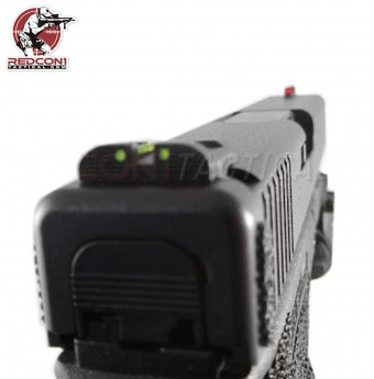 HiViz Front Rear Sight Set for Glock 10/45