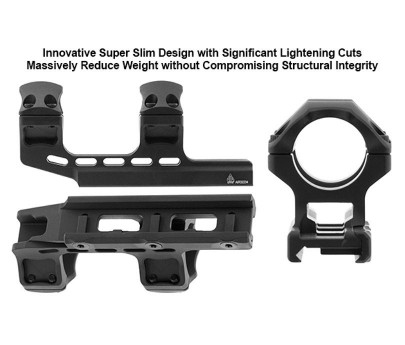 Leapers UTG ACCU-SYNC 30mm High Profile 34mm Offset Scope Mount Anodized - Blue