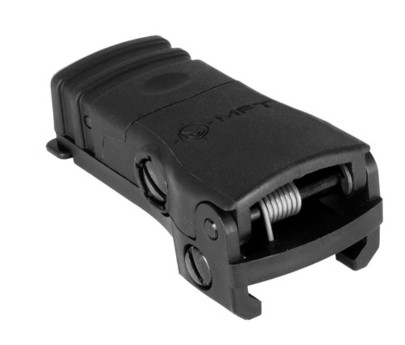 Mission First Tactical BUPSWR Polymer Flip Up Rear Sight Black