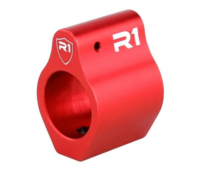 R1 Tactical Aluminum Low Profile Gas Block .750 - Red