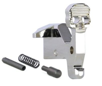 R1 Tactical AR-15 Skull Bolt Catch Kit - Nickel Plated