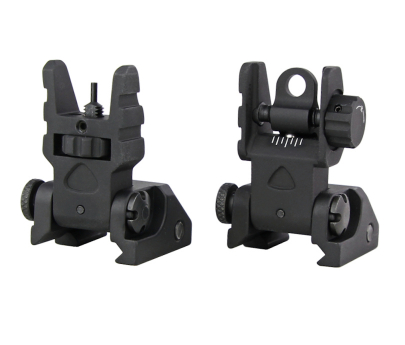 Trinity Force Aluminum Flip Up Sights - Black